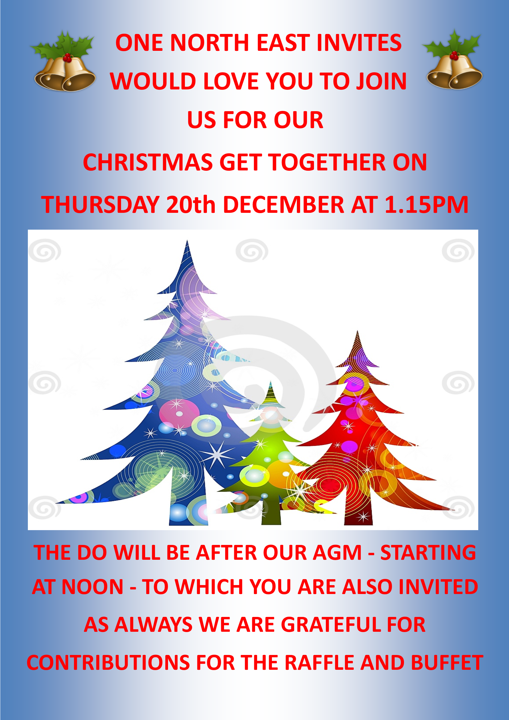 Flyer for the Christmas get together