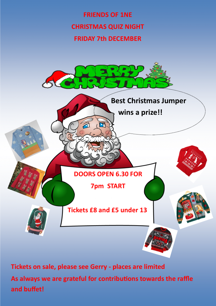 Flyer for the Christmas quiz 2018