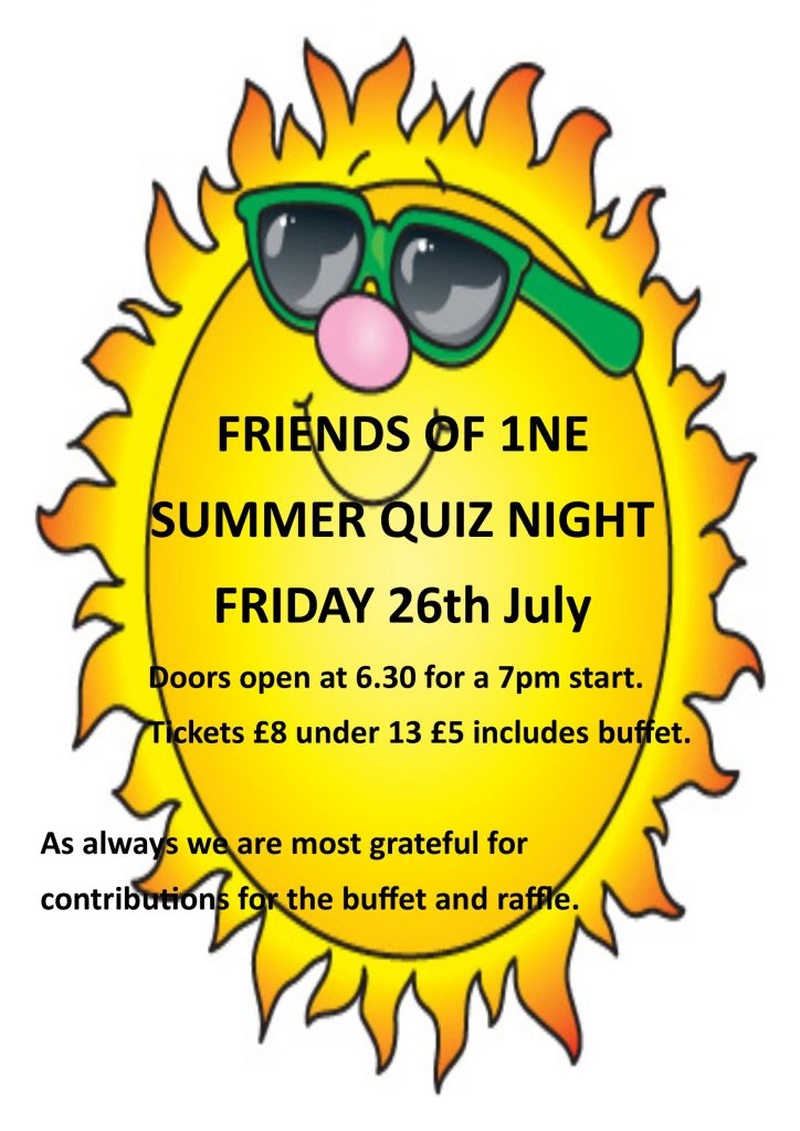 flyer for Summer quiz